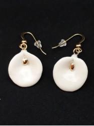 Boucles d'oreilles Arum blanc