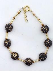 Bracelet 7Perles, noir mat...