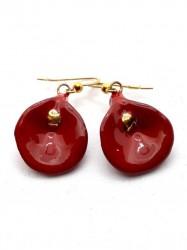 Boucles d'oreilles Arum rouge