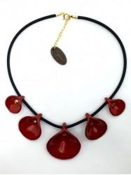 Collier Arum rouge