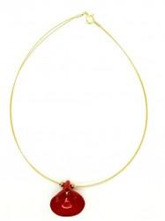 Pendentif Arum rouge