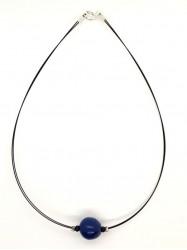 Pendentif Boule bleu