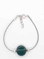 Bracelet 1Perle Rond bleu...