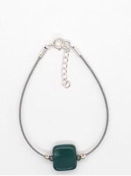 Bracelet 1Perle Carré bleu...