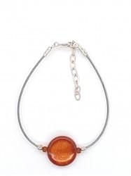 Bracelet 1Perle Rond orange