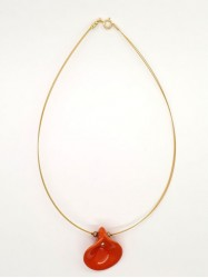 Pendentif Arum orange