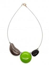 Collier Dissymétrique vert