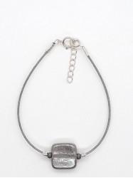 Bracelet 1Perle Carré nacré
