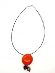 Collier 3Boules orange