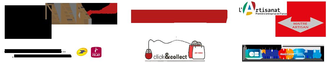 Bannière réassurance clients et détail des labellisations d'Annie BURNOTTE